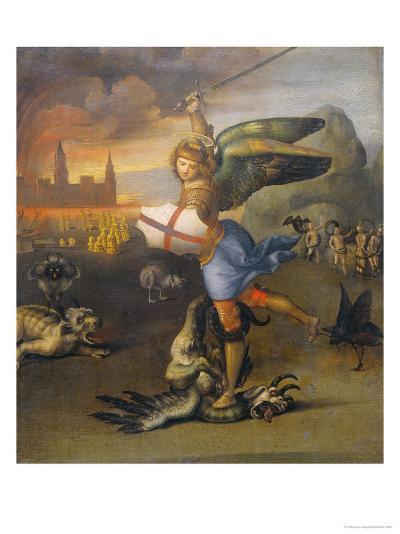 Saint Michael and the Dragon-Raphael-Giclee Print