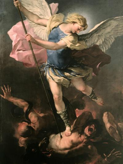 Saint Michael the Archangel, Ca 1663-Luca Giordano-Giclee Print