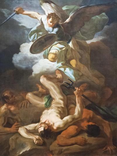 Saint Michael the Archangel Defeats Satan, Corrado Giaquinto, 1703-1765--Giclee Print