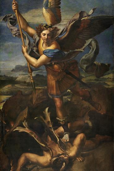 Saint Michael Vanquishing Satan, 1518-Raphael-Giclee Print