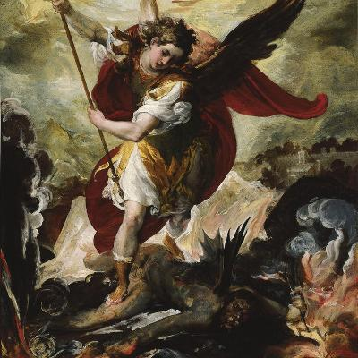 Saint Michael Vanquishing Satan-Francesco Maffei-Giclee Print