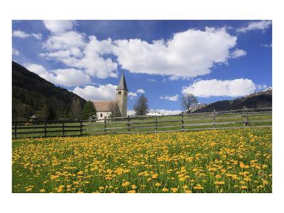 Saint Nicholas' Church in Burgeis, Vinschgau, Province of Trento, South Tyrol, Italy--Art Print
