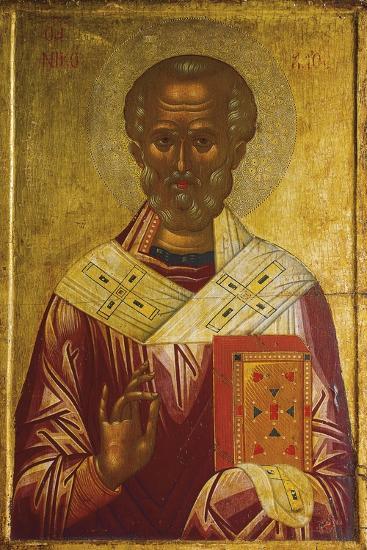 Saint Nicholas, Detail of Triptych by Andrea Rizo Da Candia--Giclee Print