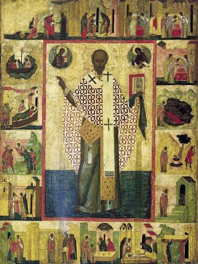 Saint Nicholas of Zaraisk with Scenes from His Life, Early 16th Century--Giclee Print