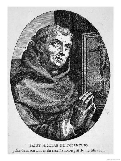 Saint Nicola di Tolentino Augustinian Friar Who Led an Uneventful Life of Patience and Humility--Giclee Print