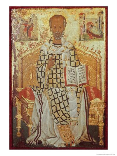 Saint Nicolas-Michael Damaskenos-Giclee Print