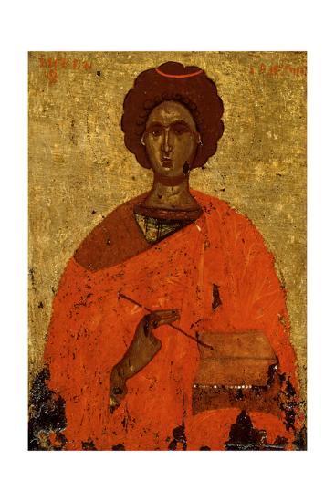Saint Pantaleon (Panteleimo), Martyr and Healer, Byzantine Icon, Second Half of 15th Century--Giclee Print