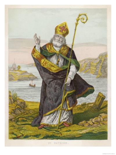 Saint Patrick--Giclee Print