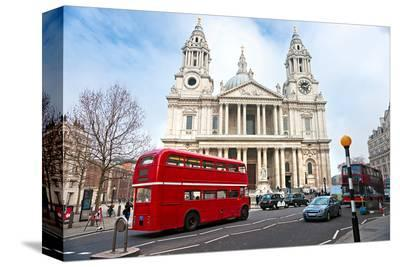 Saint Paul Cathedral London Uk--Stretched Canvas Print