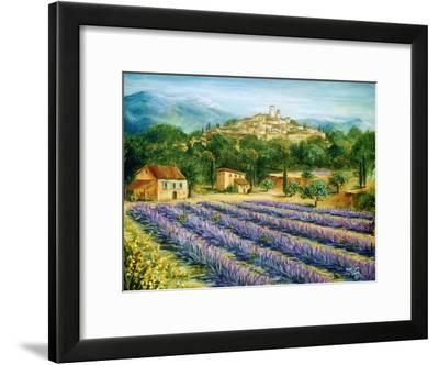 Saint Paul De Vence and Lavender-Marilyn Dunlap-Framed Art Print