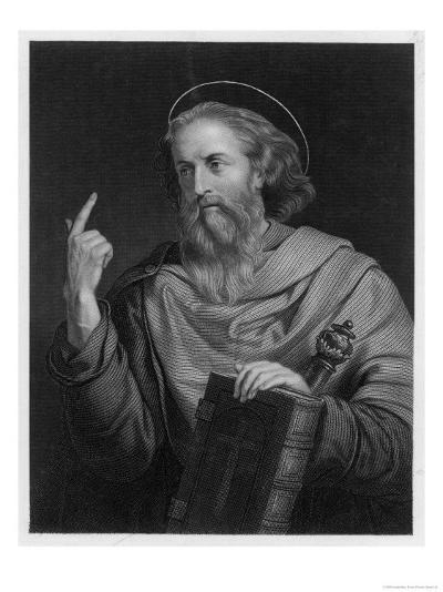 Saint Paul of Tarsus Rabbi Tentmaker Missionary Depicted Preaching--Giclee Print