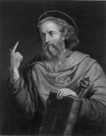 Saint Paul of Tarsus Rabbi Tentmaker Missionary Depicted Preaching