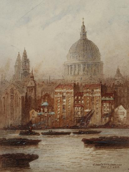 Saint Paul's from Bankside-Frederick E.J. Goff-Giclee Print