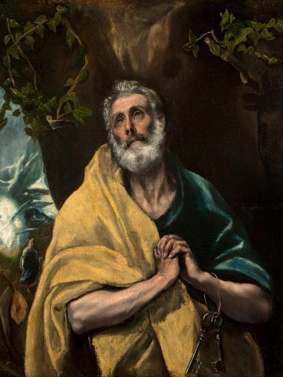 Saint Peter in Tears-El Greco-Giclee Print