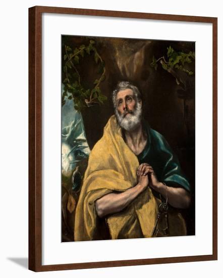 Saint Peter in Tears-El Greco-Framed Giclee Print