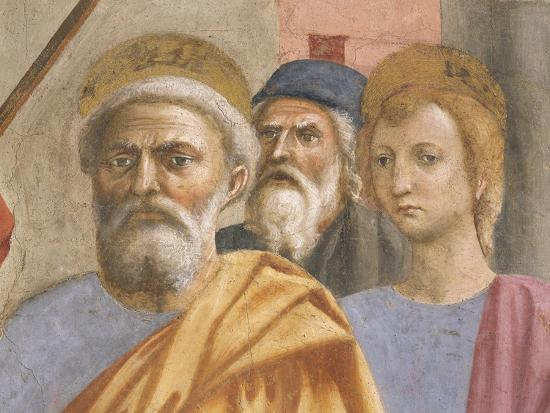 Saint Peter's Face, Detail from Saint Peter Healing the Sick-Tommaso Masaccio-Giclee Print