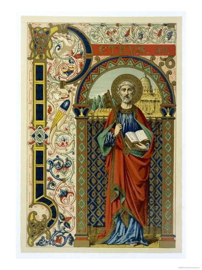 Saint Peter the First Pope Depicted Holding the Key of the Kingdom the Vatican--Giclee Print