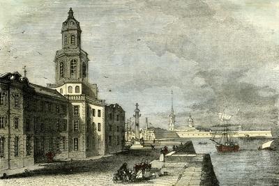 Saint Petersburg Russia 19th Century Academy of Science--Giclee Print
