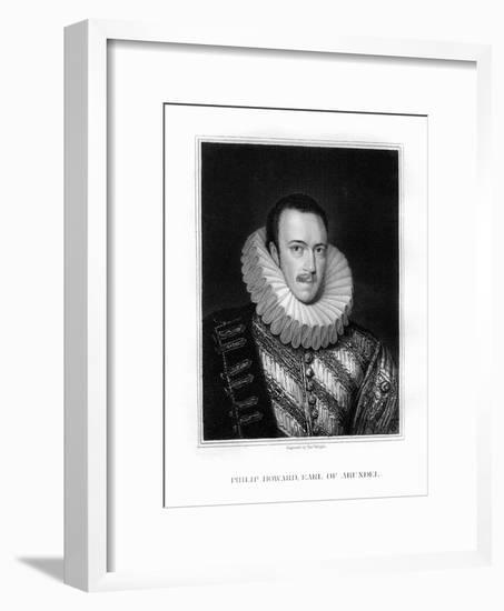 Saint Philip Howard, 20th Earl of Arundel, English Nobleman-T Wright-Framed Giclee Print