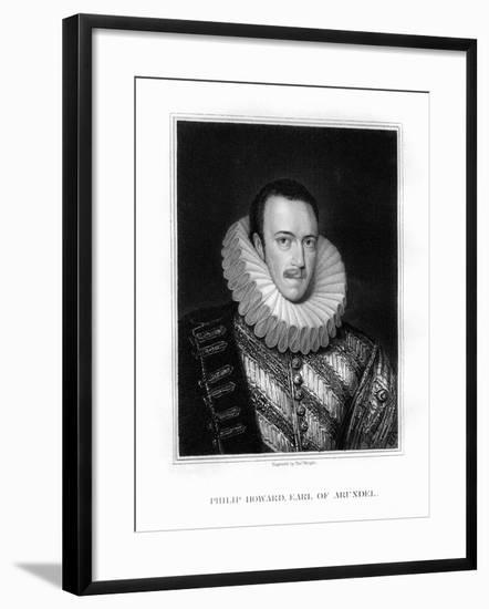 Saint Philip Howard, 20th Earl of Arundel, English Nobleman-T Wright-Framed Giclee Print