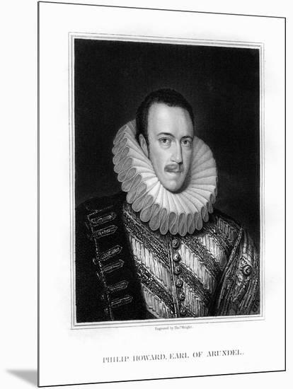 Saint Philip Howard, 20th Earl of Arundel, English Nobleman-T Wright-Mounted Giclee Print