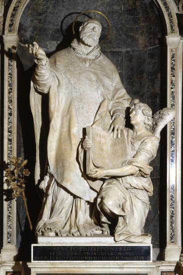 Saint Philip Neri with an Angel-Alessandro Algardi-Giclee Print