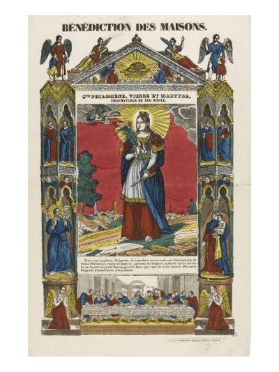 Saint Philomena, Virgin and Martyr, Blessing of Homes--Giclee Print