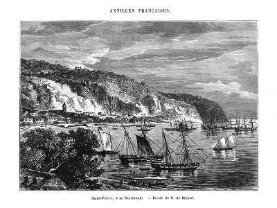 Saint Pierre, Martinique, 19th Century-E de Berard-Giclee Print
