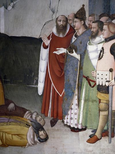 Saint Resurrecting Two Magi, Detail from Life of St Sylvester, 1341-Maso Di Banco-Giclee Print