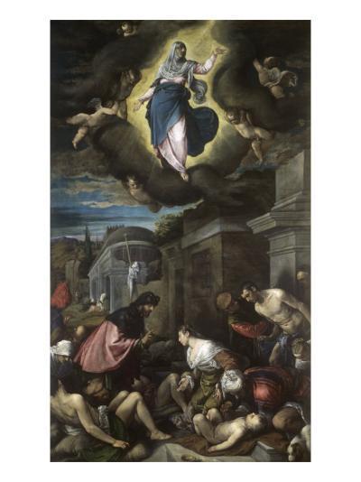 Saint Roch Visiting the Plague Victims-Jacopo Bassano-Giclee Print