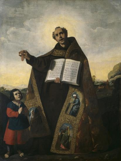 Saint Romanus of Antioch and Saint Barulas, 1638-Francisco de Zurbaran-Premium Giclee Print