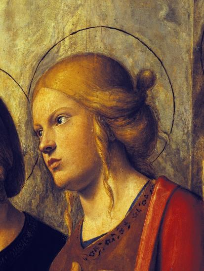 Saint's Face, Detail from Madonna with Child and Saints-Giovanni Battista-Giclee Print