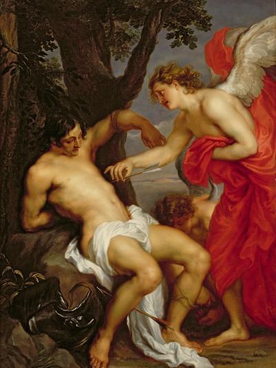Saint Sebastian and the Angel-Sir Anthony Van Dyck-Giclee Print