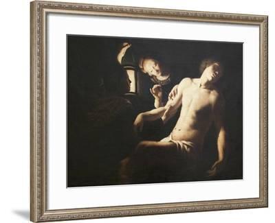 Saint Sebastian Healed by Saint Irene, Bigot Trophime, 1579-1650--Framed Giclee Print