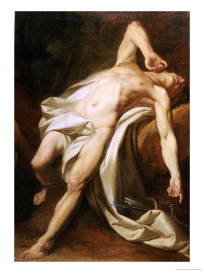 Saint Sebastian-Nicolas-guy Brenet-Giclee Print