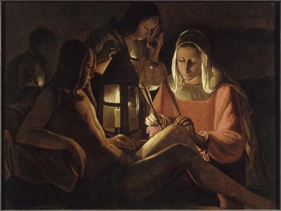 Saint Sébastien à la lanterne-Georges de La Tour-Giclee Print