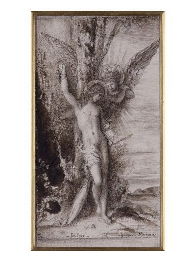 Saint Sébastien ou les Voix-Gustave Moreau-Giclee Print