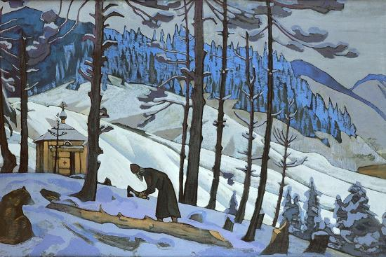 Saint Sergius the Builder, 1925-Nicholas Roerich-Giclee Print