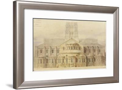 Saint-Sernin de Toulouse chevet restauré-Eugène Viollet-le-Duc-Framed Giclee Print