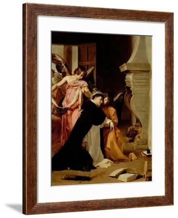 Saint Thomas Aquinas Comforted by Angels-Diego Velazquez-Framed Giclee Print