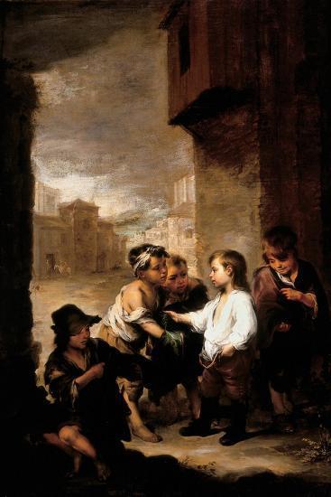 Saint Thomas of Villanueva Dividing His Clothes Among Beggar Boys, C.1667-Bartolome Esteban Murillo-Giclee Print