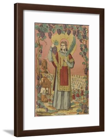 Saint Vincent, patron des vignerons--Framed Giclee Print