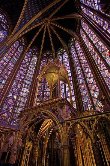 Sainte-Chapelle Interior, Paris, France, Europe-Neil Farrin-Photographic Print