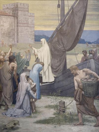 Sainte Geneviève ravitaille Paris assiégé par les Huns d'Attila-Pierre Puvis de Chavannes-Giclee Print
