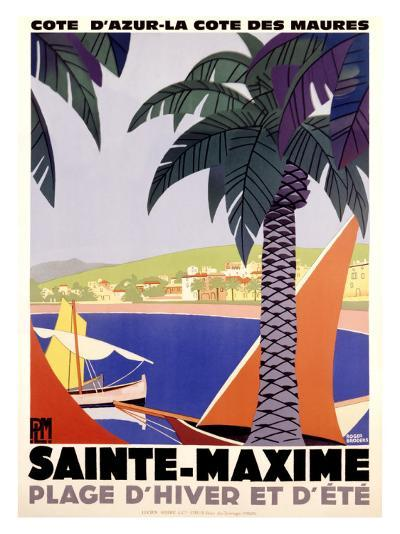 Sainte-Maxime-Roger Broders-Giclee Print
