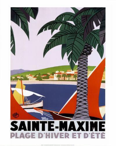 Sainte Maxime-Roger Broders-Art Print
