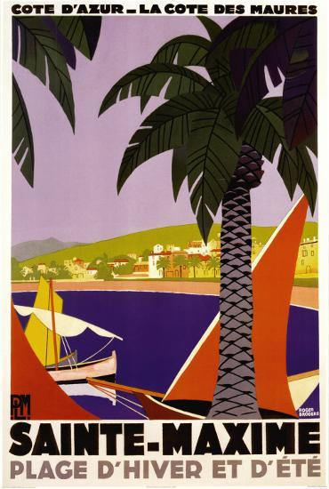 Sainte-Maxime-Roger Broders-Poster