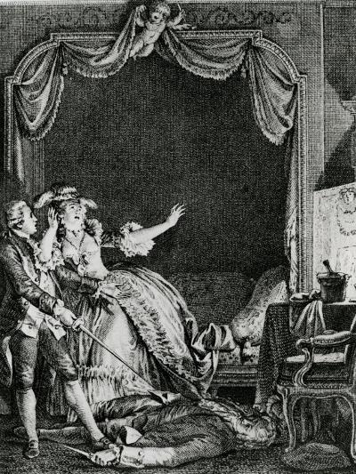 'sainte Vierge!' S'Ecria-T-Elle Qu'Allons Nous Devenir? Un Homme Tue Chez Moi!', Illustration…-Jean Michel the Younger Moreau-Giclee Print