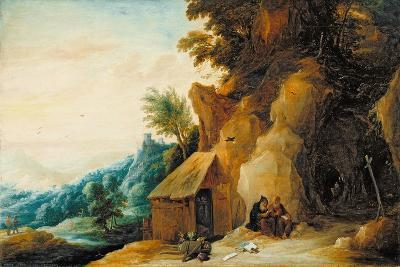 Saints Anthony and Paul in a Landscape, C.1636-38-David Teniers the Younger-Giclee Print