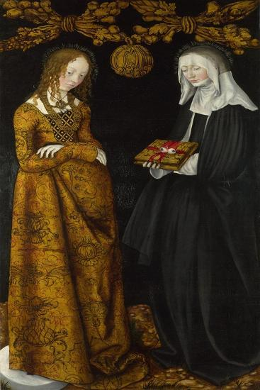 Saints Christina and Ottilia, 1506-Lucas Cranach the Elder-Giclee Print